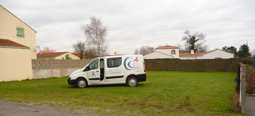 Terrain à bâtir sur la commune de Soullans avec le véhicule OC4