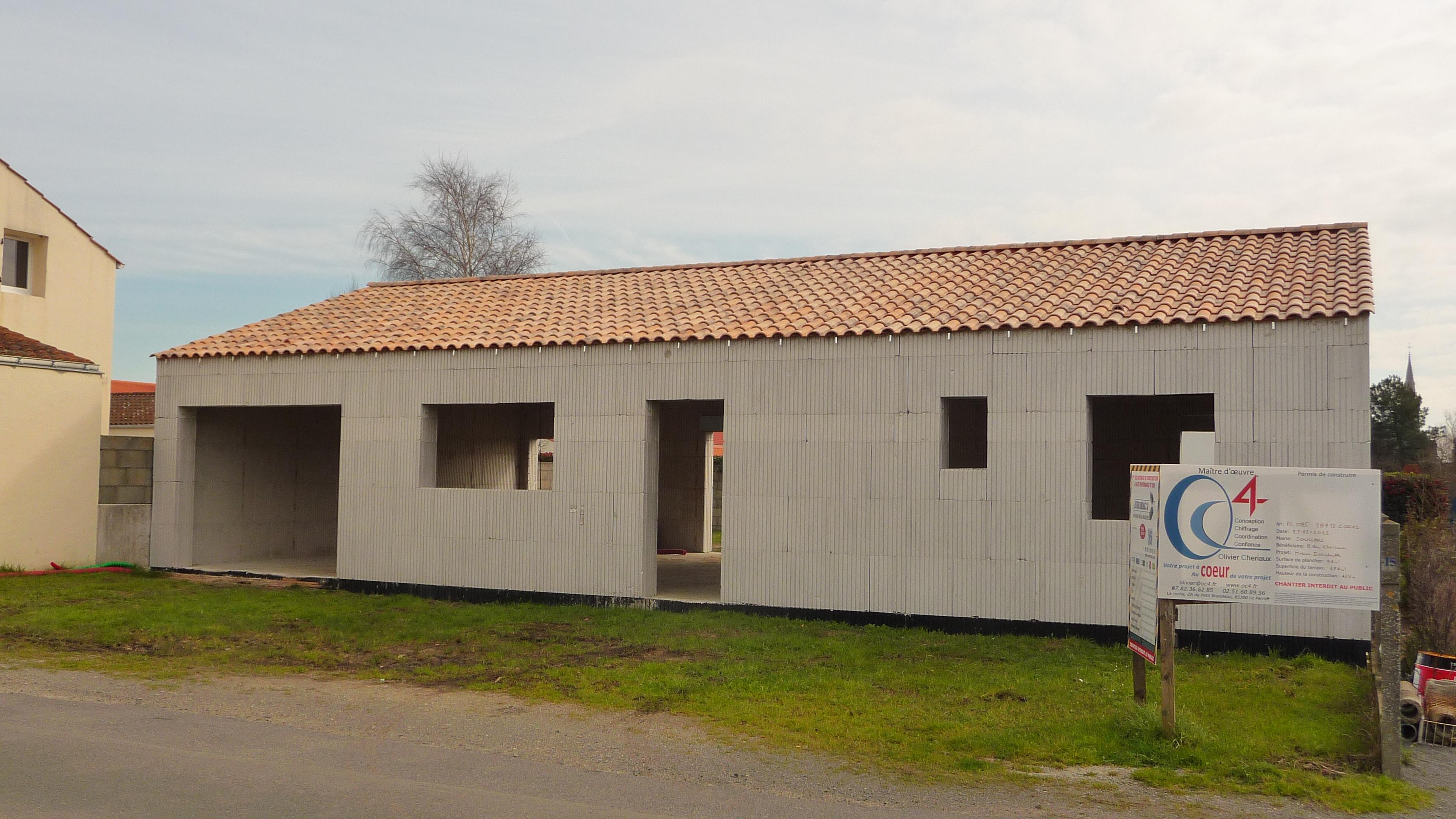 maison hautes performances énergétiques à Soullans par OC4 maître d'oeuvre